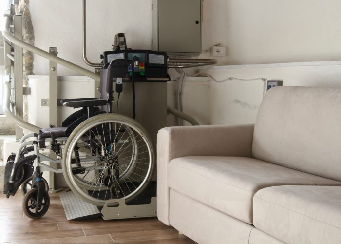The stairlift has not a problem with the sofa bed and it can be used even when the bed is open.